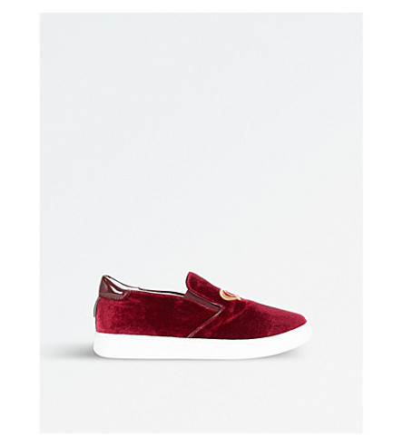 STEP2WO Rosalia Velvet Trainers 6-10 Years (Wine
