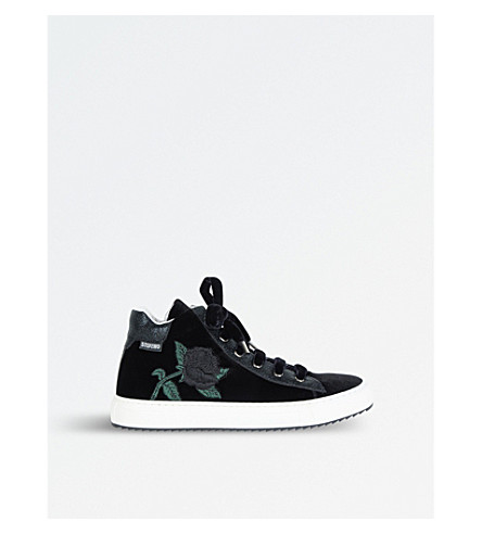 STEP2WO Louis Rose High Top Trainers 7-10 Years (Black