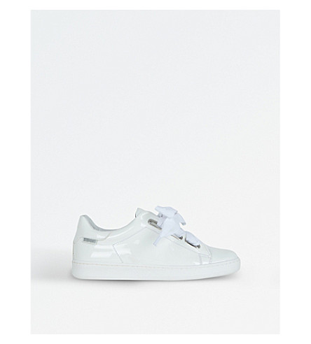 STEP2WO Dandy Bow-Detail Patent Leather Trainers 3-8 Years (White+patent