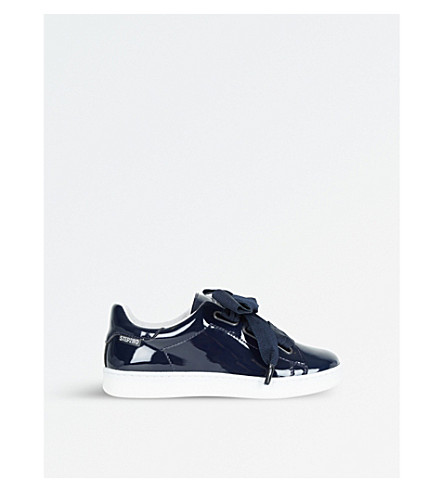STEP2WO Dandy Bow-Detail Patent Leather Trainers 3-8 Years (Navy+patent