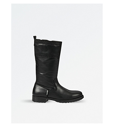 STEP2WO Nikita2 leather boots 1-11 years (Black+leather
