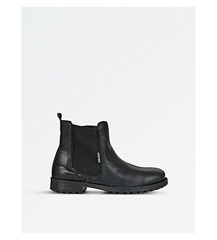 STEP2WO Jessy leather chelsea boots (Black+leather