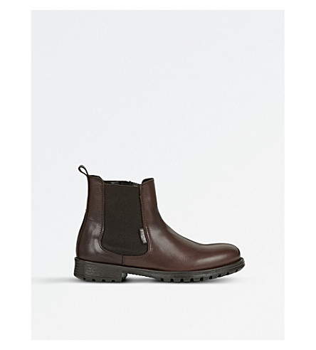 STEP2WO Jessy leather chelsea boots (Brown+leather