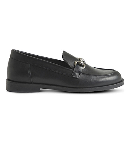 STEP2WO Noah leather loafers 6.5-12 years (Black+leather