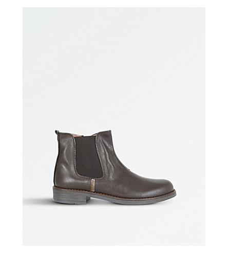 STEP2WO Jessy Leather Chelsea Boots 7-10 years (Brown+leather