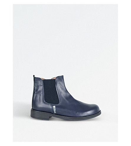 STEP2WO Jessy Leather Chelsea Boots 7-10 years (Navy+leather