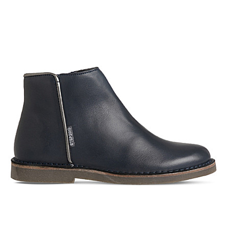 STEP2WO Tilly leather ankle boots 4-9 years (Navy