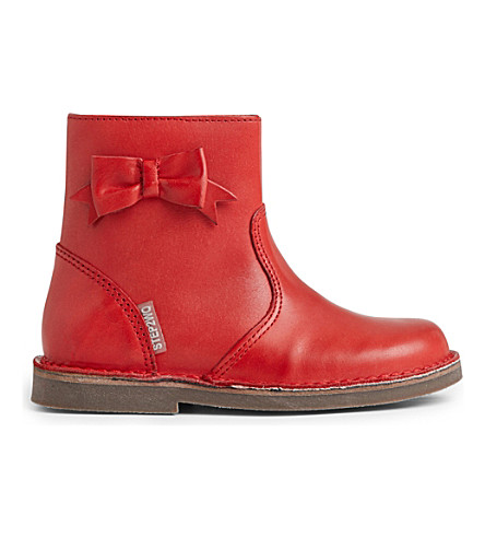 STEP2WO Holly leather ankle boots 2-8 years (Red