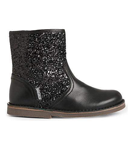 STEP2WO Sabrina glitter leather boots 3-8 years (Black