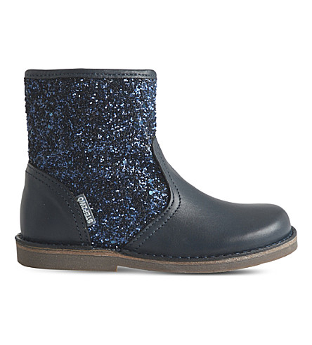 STEP2WO Sabrina leather and glitter boots 3-7 years (Navy