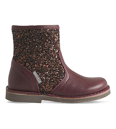 STEP2WO Sabrina leather and glitter boots 3-7 years (Wine