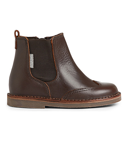 STEP2WO Cane leather ankle boots 3-8 years (Brown
