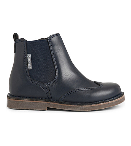 STEP2WO Cane leather ankle boots 3-8 years (Navy