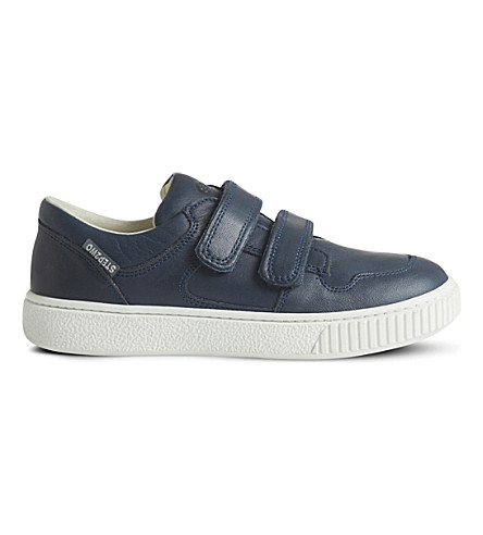 STEP2WO Mark low-top leather trainers 5-10 years (Navy+leather
