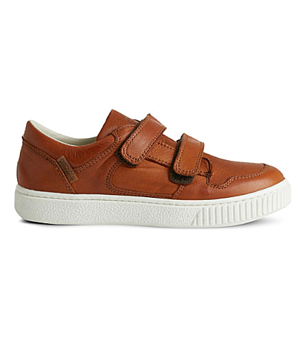 STEP2WO Mark low-top leather trainers 5-10 years (Tan+leather
