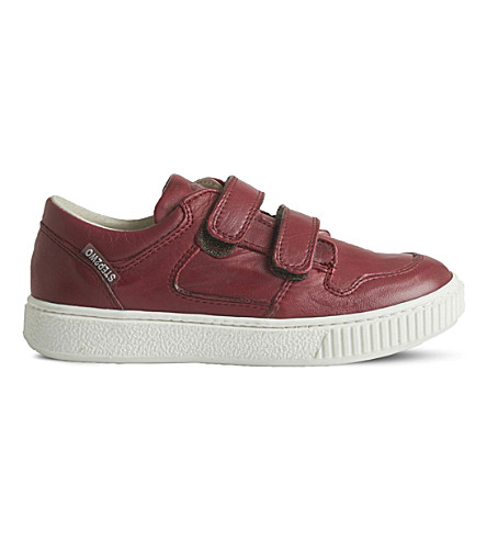 STEP2WO Mark low-top leather trainers 5-10 years (Wine+leather