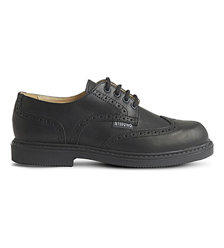 STEP2WO Clive leather brogues 7-12 years (Black+leather