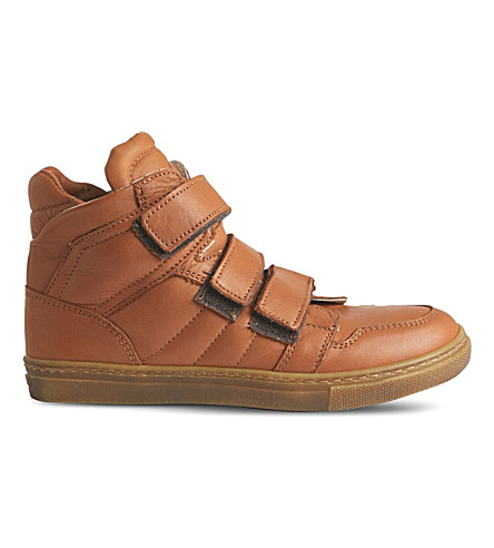 STEP2WO Simon low-top leather trainers 6-12 years (Tan+leather