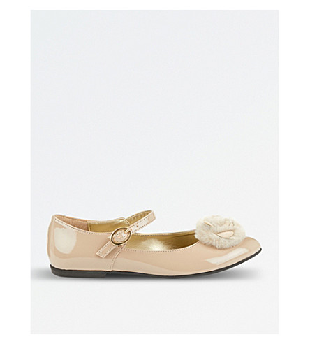 STEP2WO Rosie leather pumps (Beige+patent