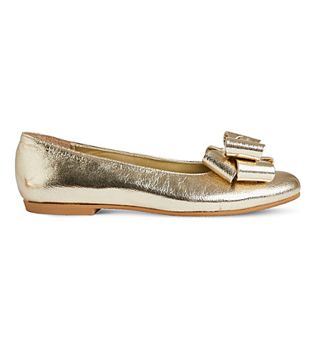 STEP2WO Jackie leather ballet flats 7-11 years (Gold+leather