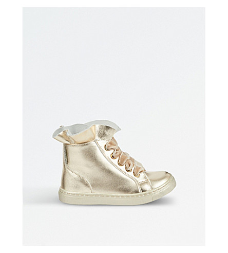 STEP2WO Sadie leather high-top trainers 5-9 years (Gold+leather