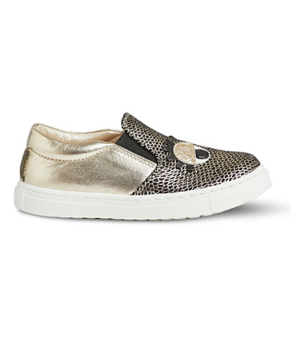 STEP2WO Smile leather trainers 2-5 years (Gold+leather