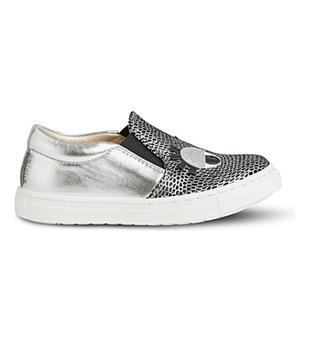 STEP2WO Smile leather trainers 2-5 years (Silver+leather