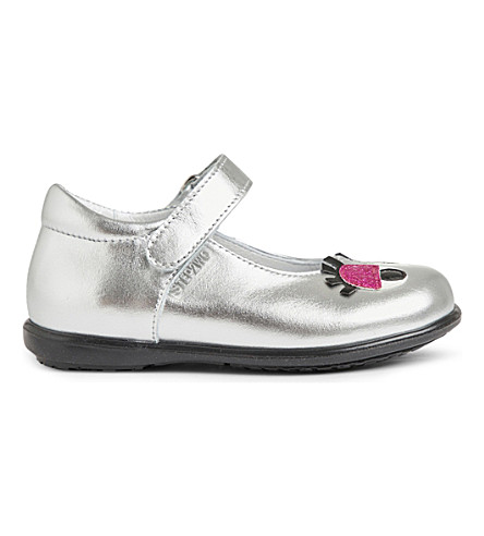 STEP2WO Babetta leather shoes 6 months -5 years (Silver+leather