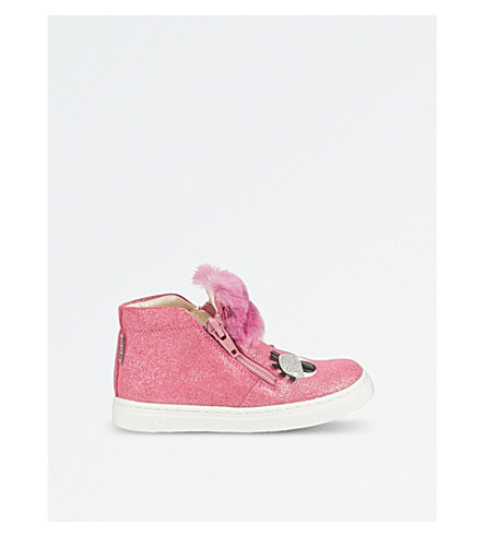 STEP2WO Gloria glitter high-top trainers (Fuchsia