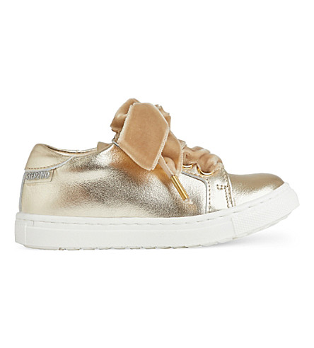 STEP2WO Royalty 2 patent-leather trainers 1-6 years (Gold+leather