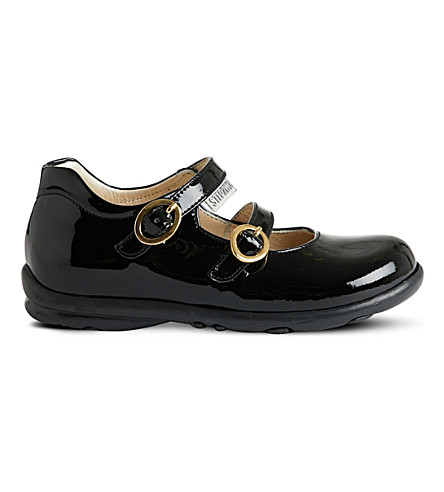 STEP2WO Bella buckle strap patent shoes (Black+patent