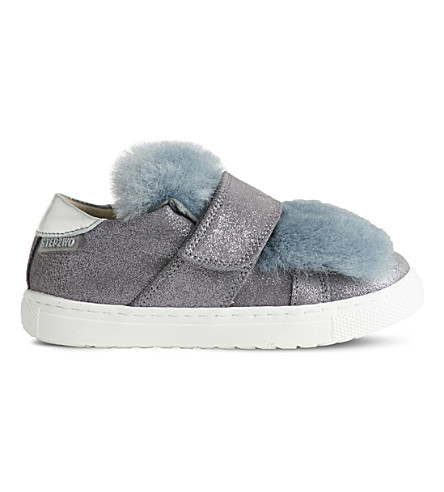 STEP2WO Muff faux-fur trainers (Grey