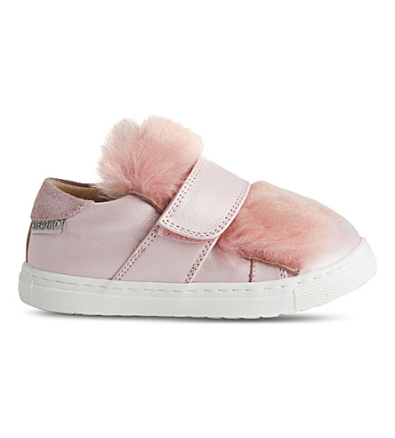 STEP2WO Muff faux-fur trainers (Pink+leather