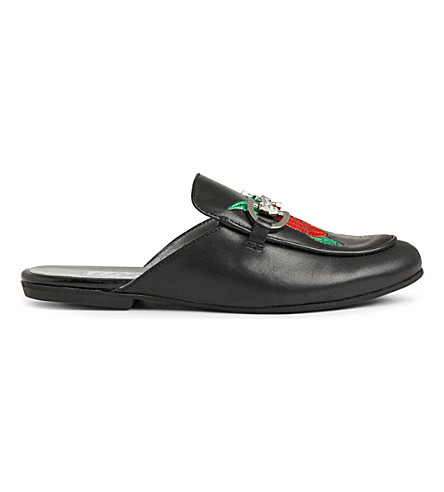 STEP2WO Estelle leather slip-on shoes 6-11 years (Black leather