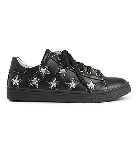 STEP2WO Lunar leather trainers 6-11 years (Black