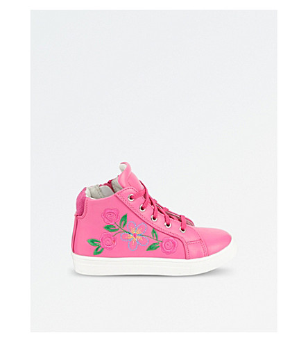 STEP2WO Flora leather high-top trainers 3-7 years (Fuchsia+leath