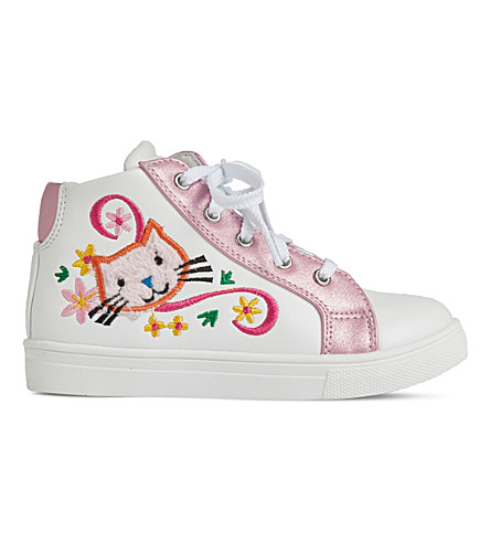 STEP2WO Dotty leather high-top trainers 3-7 years (White