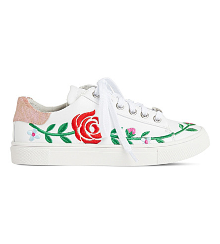 STEP2WO Rosa leather low-top trainers 6-11 years (White+leather