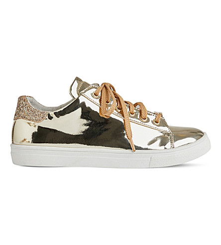 STEP2WO Izzy metallic low-top trainers 6-11 years (Gold+leather