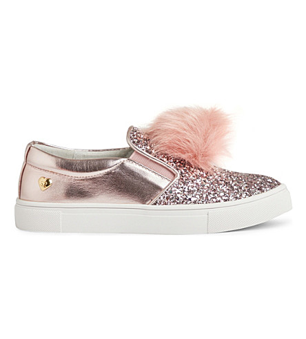 STEP2WO Pompy pom-pom skate shoes 4-11 years (Pink+glitter