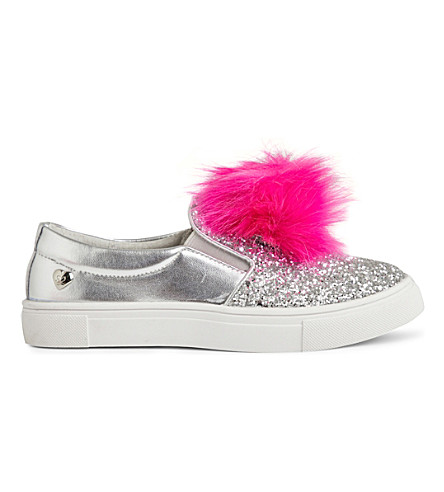 STEP2WO Pompy pom-pom skate shoes 4-11 years (Silver+glitter