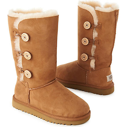 UGG Bailey triple-button boots sizes UK 12 (kids)-UK 5 (adult) (Tan
