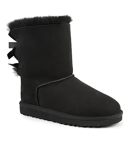 UGG Ribbon-back boots (Black