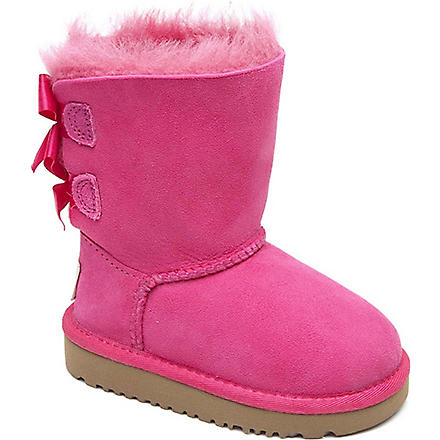 UGG Ribbon back boots (Pink