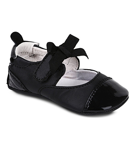 OLD SOLES Two-tone ballet shoes 6 months-1 year (Black