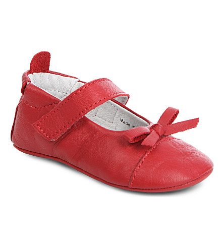 OLD SOLES Sassy pram shoes 6 months-1 year (Red