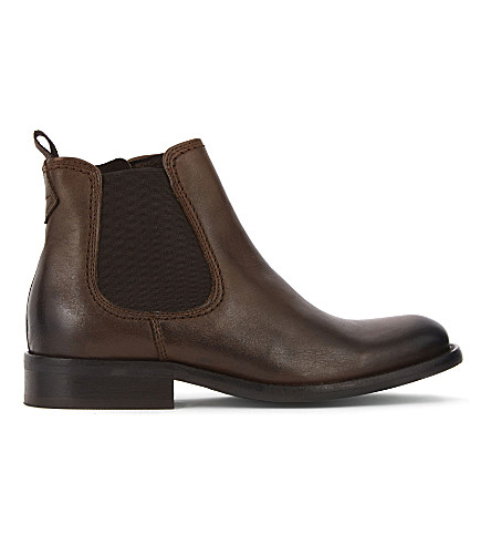STEP2WO Apache leather ankle boots 8 years (Brown+leather