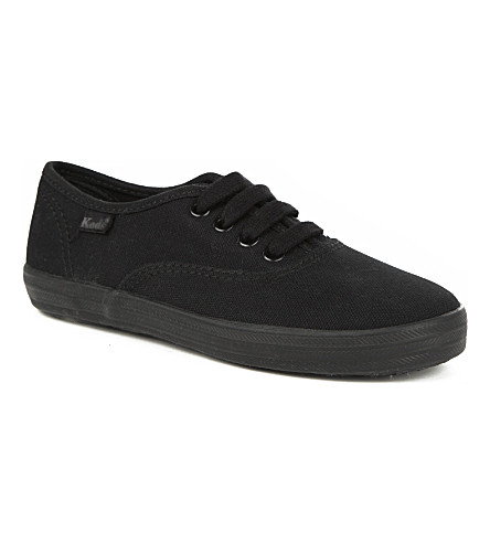 KEDS Champion unisex canvas trainers 4-11 years (Black