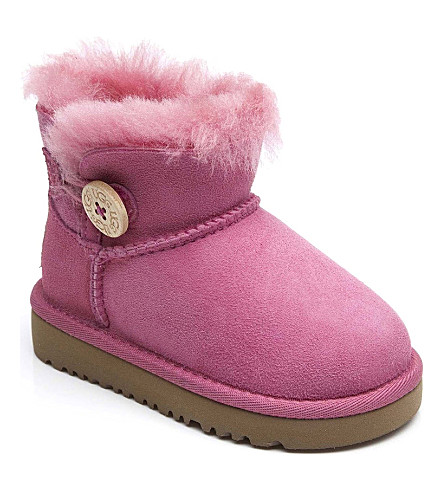 UGG Mini Bailey Button boots sizes UK 5 (kids)-UK 6 (adult) (Pink