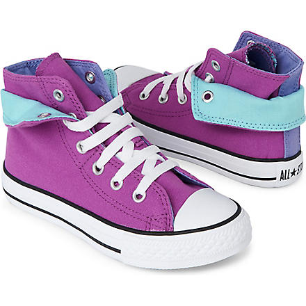 CONVERSE Contrast fold-over high tops (Purple